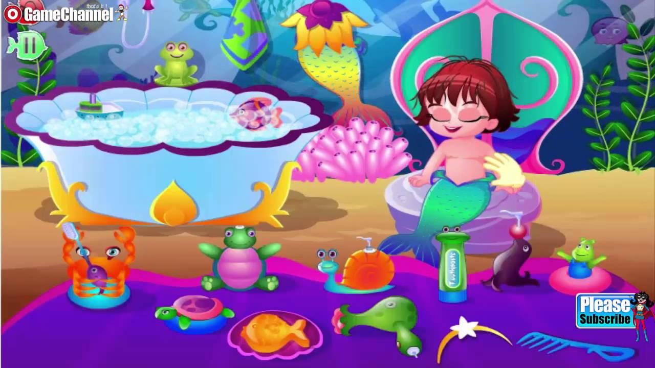 """MERMAID BABY CARE Y8 Online Free Flash Games """"Video Games ..."""