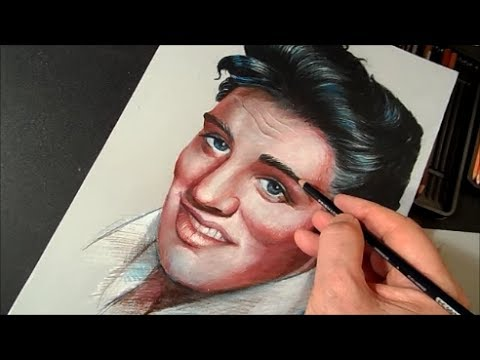 Drawing Elvis Presley The King Of Rock Time Lapse