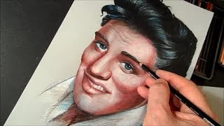 Drawing Elvis Presley the King of Rock ♔ Time Lapse