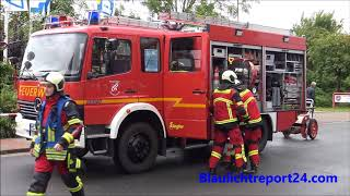 1 Blaulichttag Der Freiwilligen Feuerwehr Brunsbüttel mit real Einsatz
