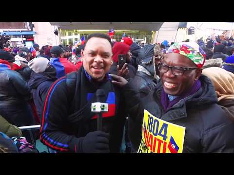 Rally against Trump - Haitian American Police Officers , activist Fritz Clervil