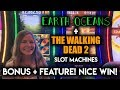 WAIT! I actually WON on Walking Dead 2 Slot Machine!!? AMAZING!! Earth Oceans Max Bet Free Spins!!