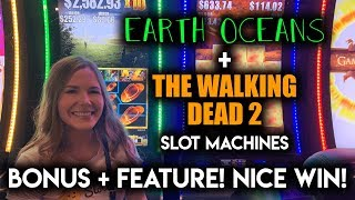 WAIT! I actually WON on Walking Dead 2 Slot Machine!!? AMAZING!! Earth Oceans Max Bet Free Spins!! thumbnail