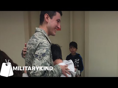 Louie Cruz - U.S Airman Homecoming, Surprises Little Brother and Sister On The Same Day