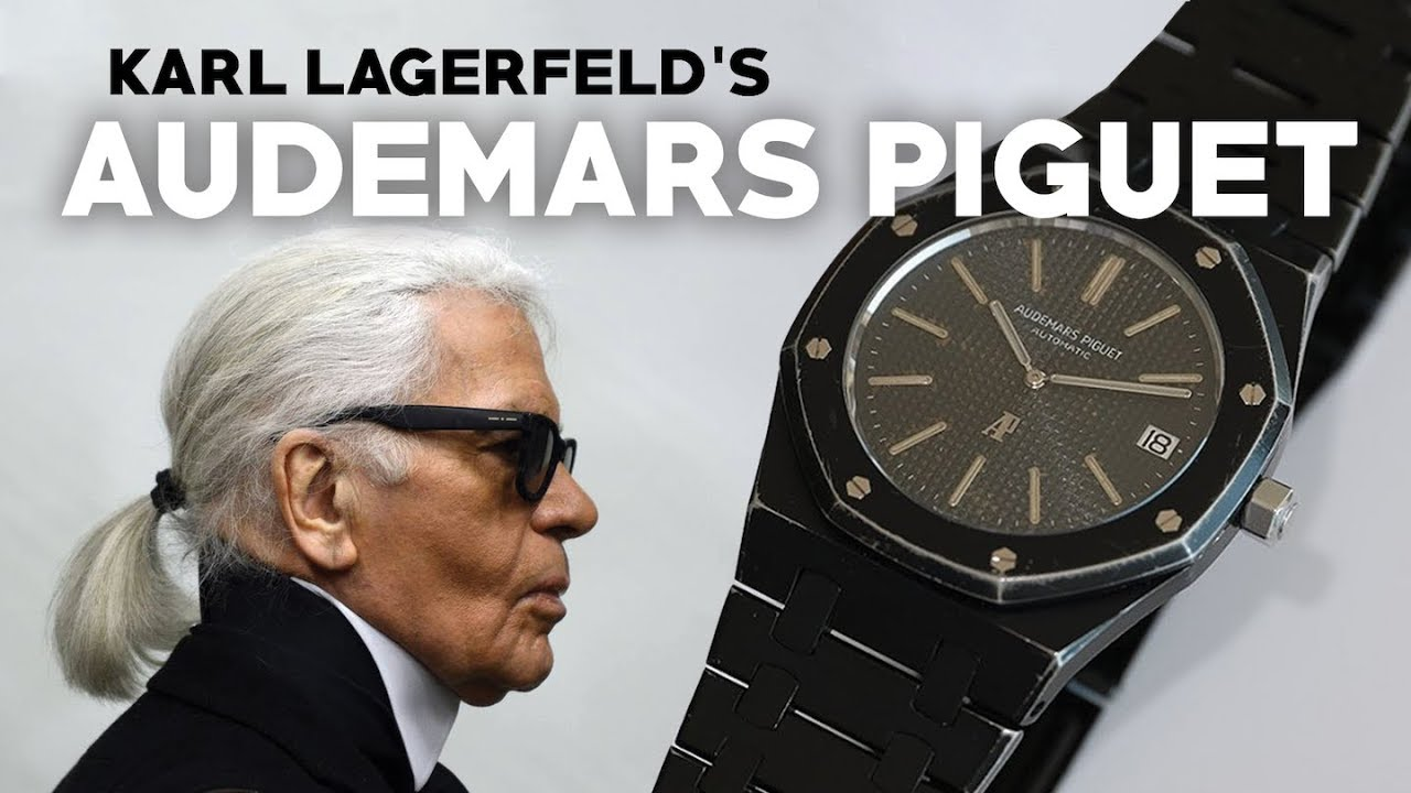 Karl Lagerfeld S One Of A Kind Watch Audemars Piguet Royal Oak Blacked Out
