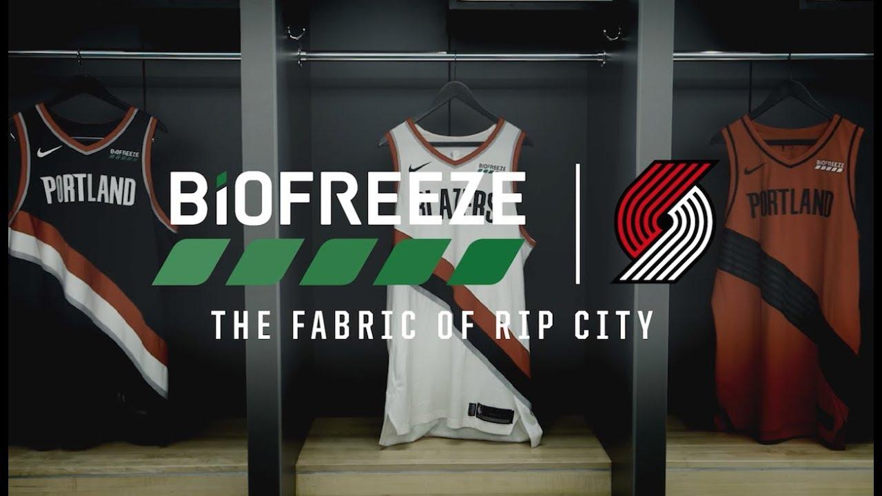 85aa0033b Portland Trail Blazers x Biofreeze - YouTube