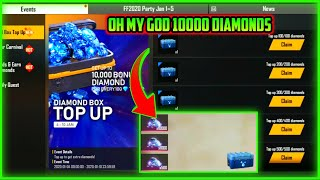 HOW TO GET 10000 DIAMONDS FROM TOP UP EVENT || FREE FIRE NEW EVENT FULL DETAILS || MG MORE
