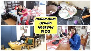 देखिये सुबह सुबह क्या हुआ मेरे Kitchen का हाल ??   Patidev Weekend Special   Indian Mom Studio