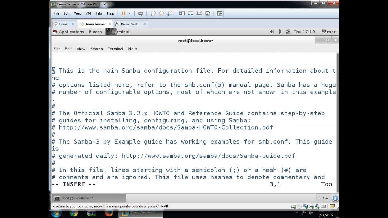Samba Server On Linux7 Or Rhel7 Youtube