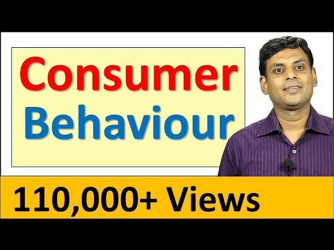 Consumer Behaviour - Marketing Management Video Lecture by Prof. Vijay Prakash Anand