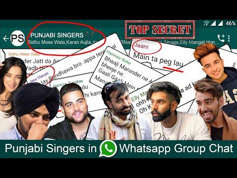 PUNJABI SINGERS In WHATSAPP GROUP CHAT   Funny Conversation   AMAN AUJLA