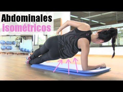 Vientre plano abdominales isom tricos youtube for Abdominales