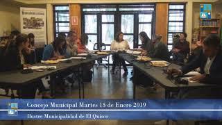 Concejo Municipal Martes 15 de Enero 2019   El Quisco