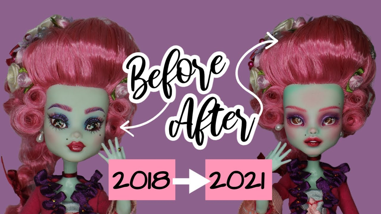 Redoing my OLD ART! Three years in the hobby, can I do better? | doll repaint