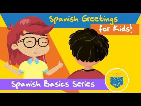 Spanish Greetings For Kids | Spanish Academy TV