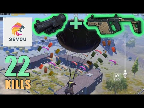 VECTOR + 6x Scope? 100% YES | 22 KILLS | SOLO SQUAD | PUBG Mobile