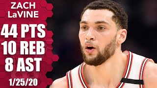 Zach LaVine drops 44 points, including 27 in the first half, vs. Cavaliers | 2019-20 NBA Highlights