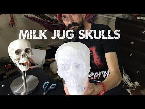 Cheap milk jug skull tutorial - easy way to make skulls