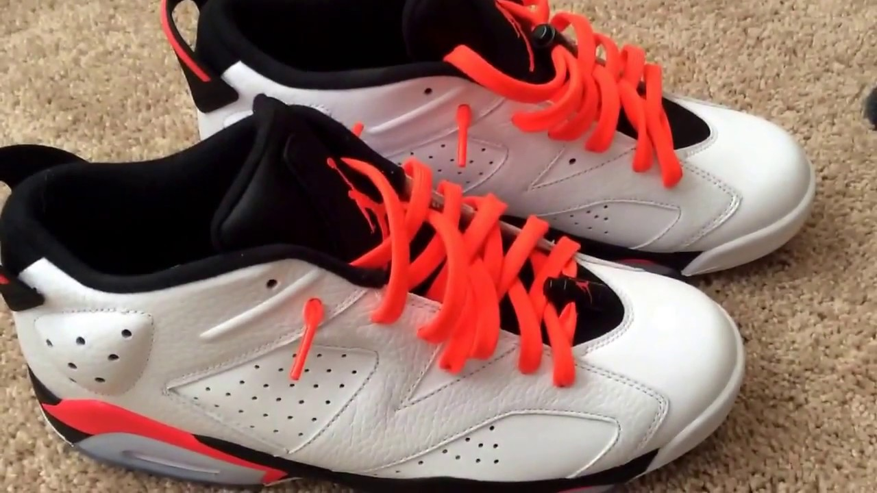 49da645247e2 Jordan 6 low infrared lace swap - YouTube