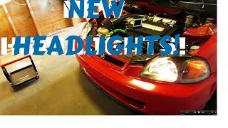 EK CIVIC HEADLIGHTS!   HSG EP. 4-25