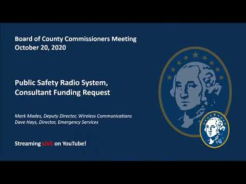 Washington County Board of County Commissioner's Meeting 10/20/2020