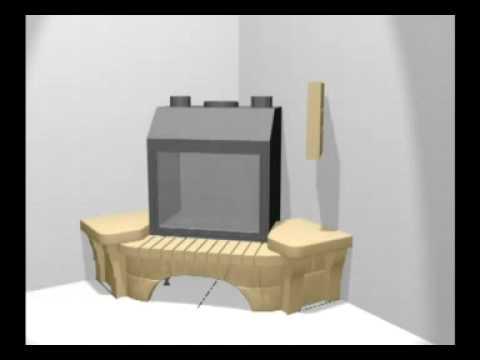 Сборка облицовки камина октава угловой шиберная задвижка для дымоходов