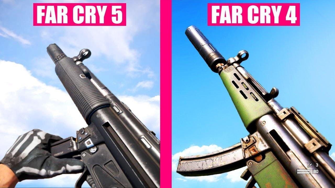 Far Cry 5 Gun Sounds Vs Far Cry 4 Youtube