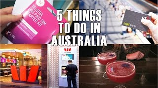 5 First things to do in Australia (special Melbourne) | New Borders