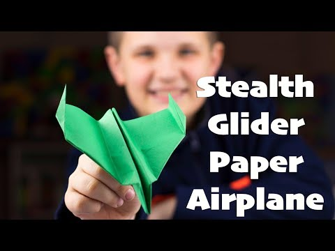 Stealth Glider: How to Make a Paper Airplane