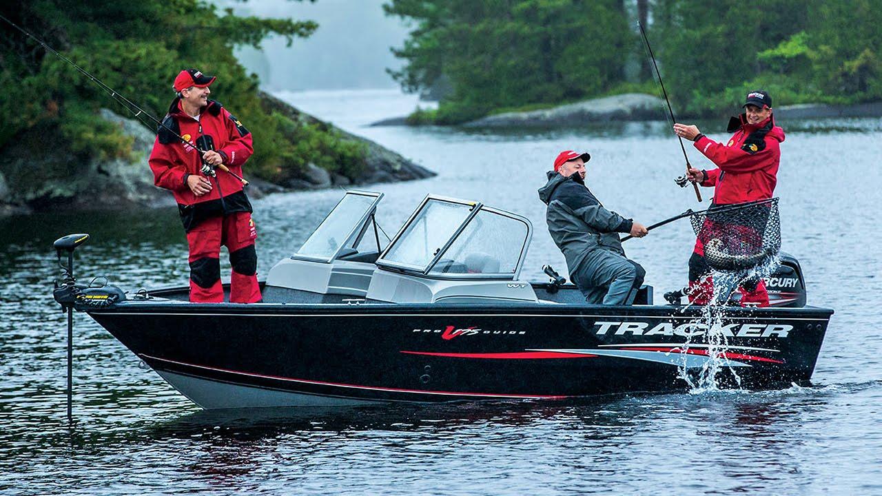 TRACKER Pro Guide V-16 SC Aluminum Deep V Boat - YouTube