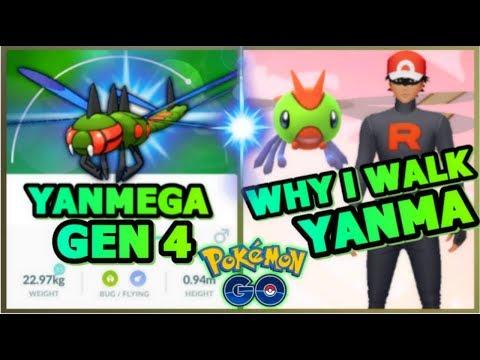 WHY I WALK YANMA IN POKEMON GO | GEN 4 YANMEGA NEW BEST BUG ATTACKER