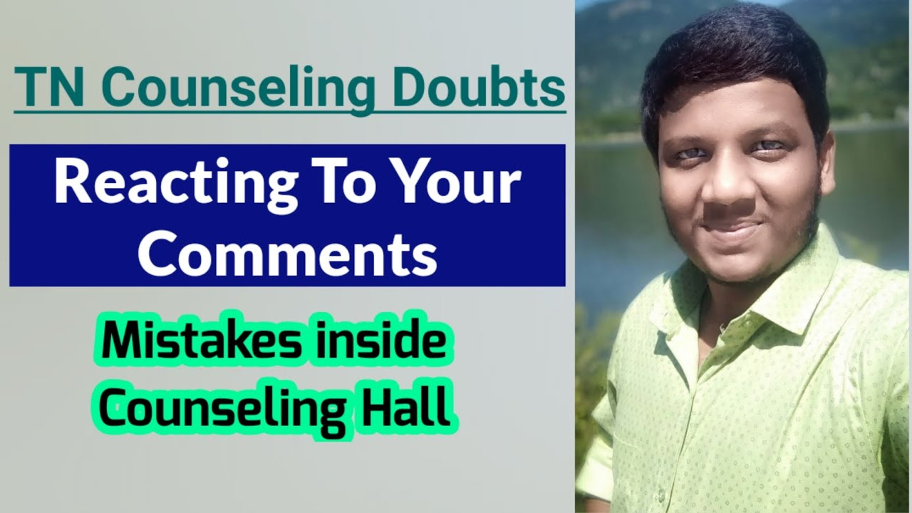Reacting To Your Comments [Mistakes In Counseling Hall] NEET 2020 | Neet Strategies In Tamil