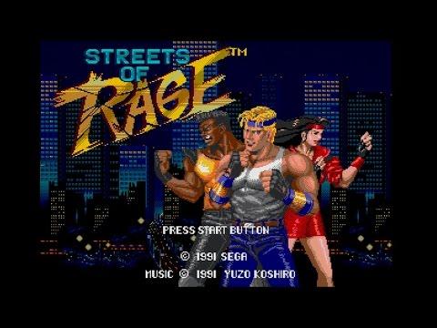 Streets of Rage 1 Walkthrough - Sega Genesis - 60fps, 1080p