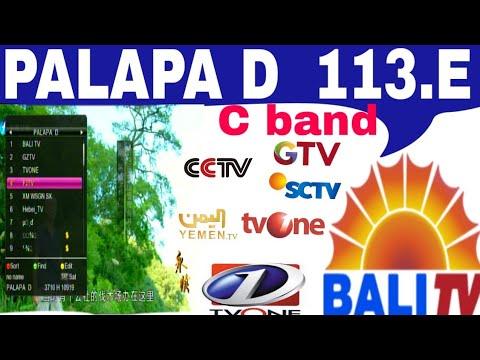 PALAPA D 113 E dish settings channel list 4 feet me