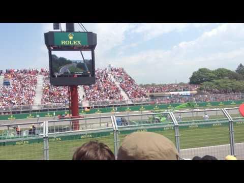 F1 2017 grand prix du Canada depuis (estrade 21 tribune 7 à l'épingle) départ course