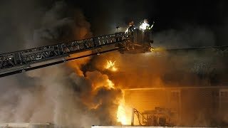 Multiple alarm fire in a restaurant, Carbon County PA 03/18/18