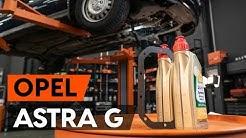 Kuinka vaihtaa vaihteistoöljy OPEL ASTRA G CC (F48, F08) -merkkiseen autoon [OHJEVIDEO AUTODOC]