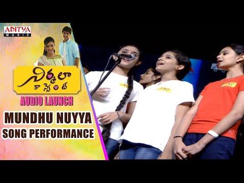 Mundhu Nuyya Song Performance At Nirmala Convent Audio Launch  King Nagarjuna,Roshan,Shriya,Roshan