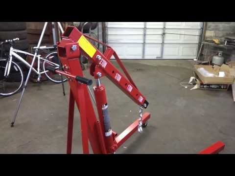 Pep Boys Big Red 2 Ton Engine Hoist - Review - Part 3 Of 3