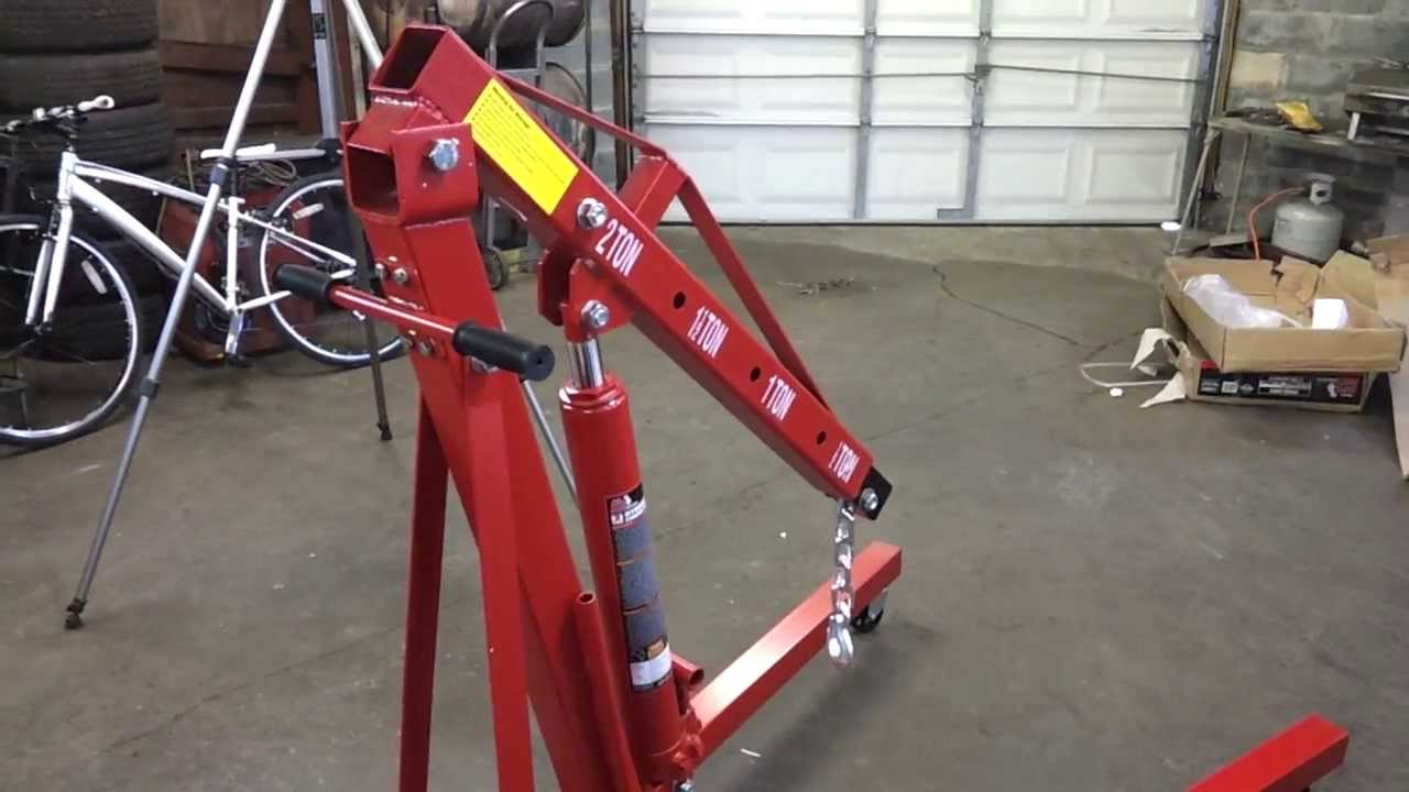 Pep Boys Big Red 2 Ton Engine Hoist Review Part 3 Of 3