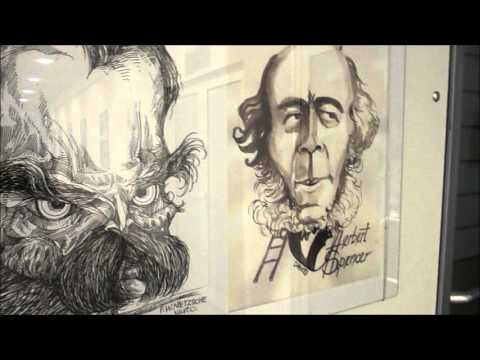 Cartoon Exhibition. World philosophers of the 19th and 20th centuries, Gradiska (Bosnia)