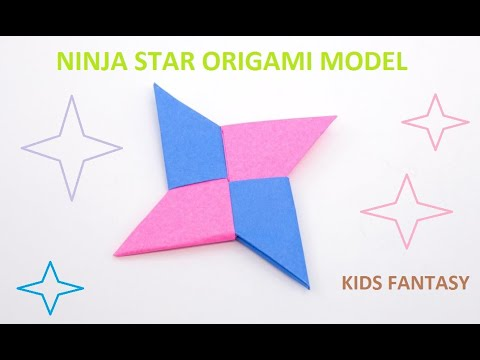 How To Make a Paper Ninja Star - Origami Step by Step Tutorial