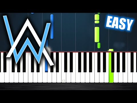 Alan Walker - All Falls Down - EASY Piano Tutorial by PlutaX