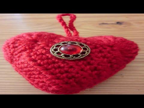 AMIGURUMIS - CORAZÓN - TUTORIAL | Danii's Ways ♡ - YouTube | 360x480