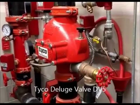 Tyco Deluge Valve Dv5 Electric Operated Youtube