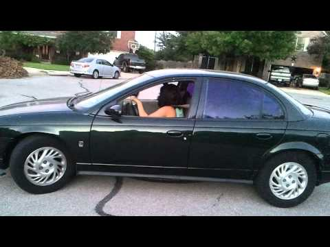 Savannah driving a shift - her new car!