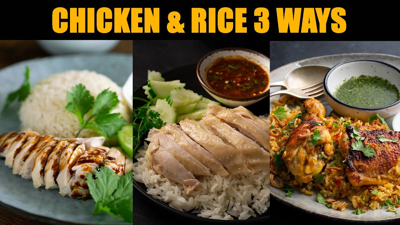 The 3 Asian Chicken Rice Recipes I LOVE...Hainanese & Thai! | #CookWithMe | Marion's Kitchen