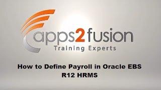 This oracle video tutorial defines payroll, period type with valid payment terms demonstration on ebs r12 hrms. enroll for our complete trainings at: ...