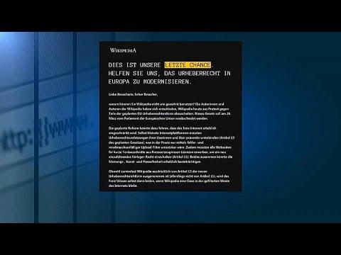 ويكيبيديا تعلن اضرابها احتجاجا على التغييرات الحديثة في قوانين حقوق الملكية الفكرية الرقمية  …  - 09:54-2019 / 3 / 22