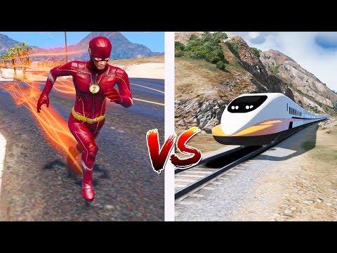 Pode o TREM BALA ser mais rápido que o FLASH no GTA V?